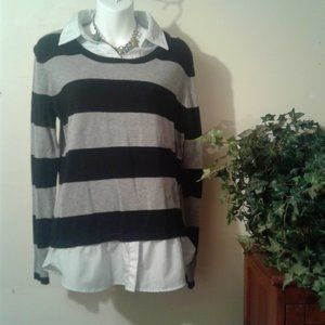 Faded Glory Stripped Top Size L